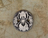Ceramic spider button ceramic button Halloween button ceramic large button Halloween scrapbook embellishment fall buttons spider charm