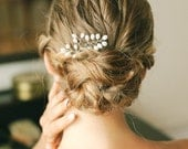Pearl wired hair pins, pearl hair combs, wedding pearl bobby pins, pearl hair pins, bridal gift - style 136