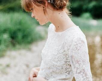 Wedding Hair Comb , Wedding Headpiece ,Floral Hair Comb ,Wedding Hair Piece ,Pearl Crystal Bridal Hair Comb , Bridal Opal Hair Accessories