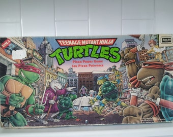 RARE HTF Vintage TMNT Pizza Power Board Game