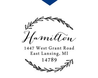 Laurel Return Address Stamp