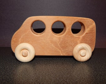 wooden bus,small wooden toy car, wooden car,wood car