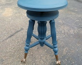 SOLD _ Claw foot Federal Blue piano stool - hold for Denice B