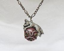 Princess Mononoke Necklace White Wolf Mask