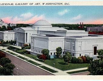 Washington DC Vintage Postcard - The National Gallery of Art (Unused)