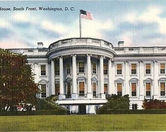 Vintage Washington DC Postcard - The White House (Unused)