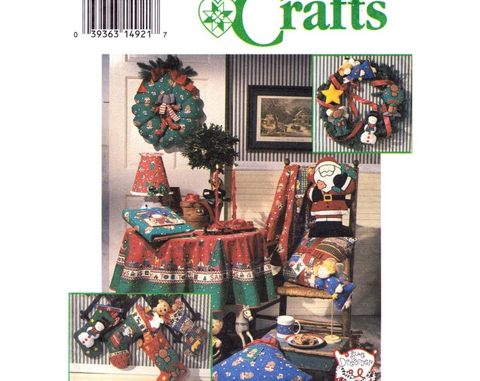 Holiday Pattern Simplicity 8806 Ornaments Tree Topper Angel Wreath Stockings Santa Pillow