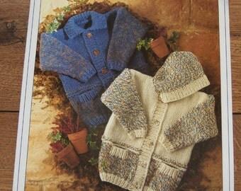 stylecraft knitting pattern 4382 children sweaters Braemar sz 20-30 inches boy girl