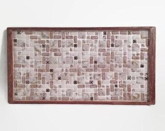 Vintage Mosaic Trivet - Mid Century Modern - Large - Tray