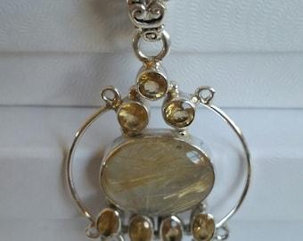 Golden Glow                   Citrine Necklace