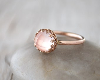 Pink gold ring Etsy