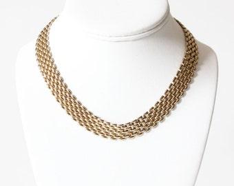 Vintage Goldtone Link Coro Necklace