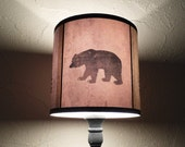 Bear lamp shade lampshade Woods Shadows -lighting, nursery decor, holiday decor, scandinavian christmas,rustic home decor,animal silhouette