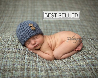 Newborn Hat Boy, Newborn Photo Prop Boy, Newborn Boy Hat Photo Prop, Newborn Boy Props, Newborn Beanie, Knit Newborn Hat, Best Selling Items