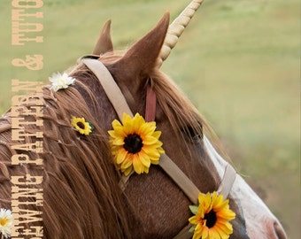 DIY Unicorn Horn Costume Piece for a Live Horse Sewing Pattern and Tutorial in 5 Sizes Miniature, Pony, Cob, Horse and Draft