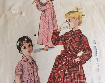 Vintage 1950s McCalls Pattern 4169 For Girls Robes And Housecoat Set -  Size 12 - Bust 30