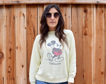 Vintage RARE 1960s MICKEY Mouse CALIFORNIA Pullover Sweatshirt