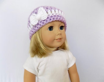 18 Inch Doll Hat, Doll Accessories, Bow Hat, Doll Clothing