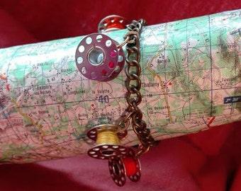 bracelet recyclage couture  canette métal chromé