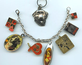 Rescue and Guide dogs Charm Bracelet Collectible Charms Mira SPCA With Mira Keychain