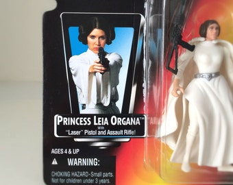 Princess Leia, Carrie Fisher, Star Wars Action Figure with Blasters - 1995 Kenner Star Wars Kids Toy - Original Movie Trilogy, A New Hope
