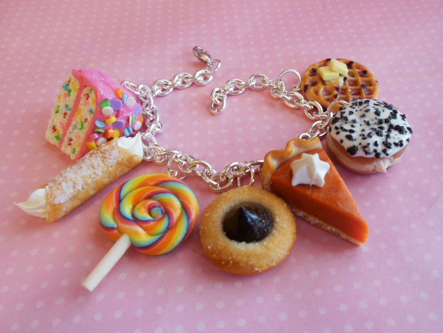 Polymer Clay Dessert Bakery Sweets Charm By Scrumptiousdoodle