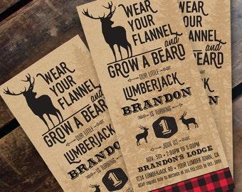 Lumberjack invitation | Etsy