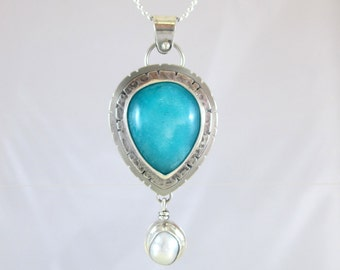 Amazonite Sterling Silver Pendant Necklace