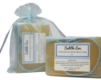 SUBTLE EVE, Bar Soap, Shea Butter Soap, Soy-N-Suds, Vegan Soap, Scented Soap, Glycerin