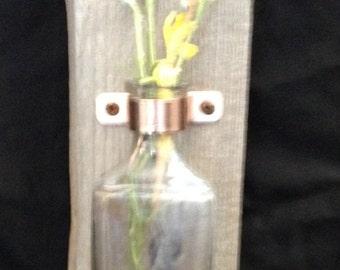 Rustic vase wall hanging