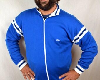 Vintage 80s Christian Dior Soft Zip Up Sweatshirt