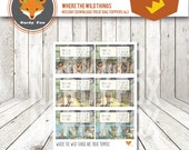 Where the Wild Things Are Treat Bag Toppers - 4x3 (3 Designs) Instant Download