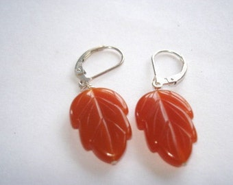 Vintage Amber Color Lucite  Bakelite Jewelry Earrings