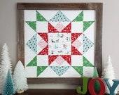 Joyful Barn Star quilt pattern - PDF