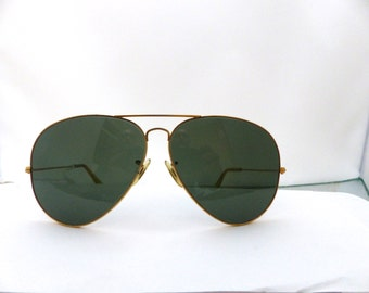 Ray Ban 62mm 12 AVIATORS  Made in USA/bausch and lomb ,rare size,1960s 70s /#202 tag