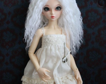 Angelic Pure White mohair wig for Minifee / MSD