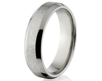 New 5mm Comfort Fit, Custom Titanium Ring, Sizing Band 4-17: 5BN-ST
