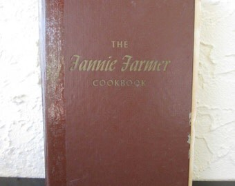 The Fannie Farmer Cookbook 1965 Eleventh Edition Distressed Vintage Cook Book