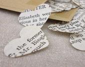 Pride And Prejudice Confetti Hearts - Jane Austen confetti - Book Confetti - Wedding Confetti - Book lover Wedding - Party confetti