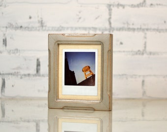 Picture Frame for Instant Camera Print in Shallow Bones Style and Finish Color of YOUR CHOICE 4.75 x 5.5 inch Frame - Vintage Photo Frames