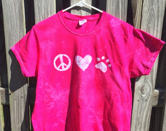 Animal Lovers Shirt (L), Paw Print Shirt, Cat Lovers Shirt, Dog Lovers Shirt, Ladies Paw Print Shirt, Womens Dog Print Shirt, Cat Print