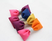 Color Block Hair Bows - Choose your Color - Stocking Stuffer - Ready to Ship - Girls Hair Bows