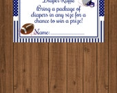 Football Baby Shower, Sports Baby Shower, Football Diaper Raffle, Sports Diaper Raffle, Instant Download