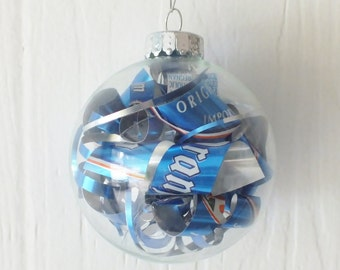 Upcycled Oranjeboom Beer Can Ornament