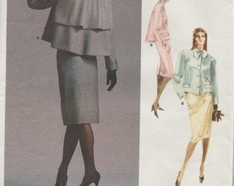 Vogue 1957 / Vintage Designer Sewing Pattern By Bill Blass / Jacket Skirt Suit/ Size 16 Bust 38