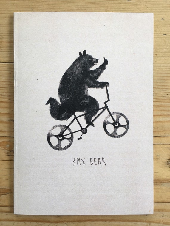 A6 Notebook - BMX Bear