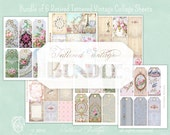 Bundle of SIX Retired Printable Tag Sheets ATC Tattered Vintage bundle no. 12 Instant Download
