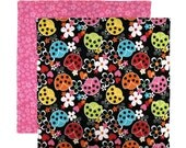 Kids Lunch Napkin, Cloth Lunch Napkin, Lunch Box Napkin, Ladybug Gift, 1 double sided fabric napkin