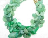 Chunky Statement Necklace [Chunky Statement Green Multi Strand Pendant Collar Necklace] PLAY THE FIELD