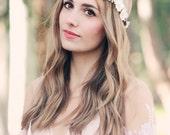rustic wedding hair accessories cherry blossom crown bridal headband wedding headpiece bridal head wreath floral hair vine